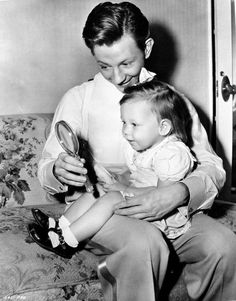 """Donald O'Connor and daughter.  With family, all moments are a lot more than just a 'like' or 'comment' it's much more, it's """"love""""  mYfamily"""