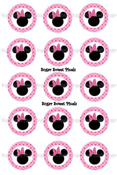 INSTANT DOWNLOAD Pink Polka Dot Mouse Ears blank by sugarnspicebow
