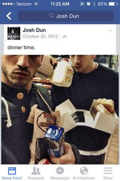 Josh Dun and Tyler Joseph <- these. These are the men I love