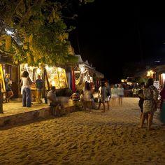 Village in Jericoaroara, Brazil.