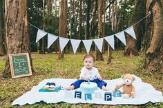 Baby Boy 1st Birthday Party, One Year Birthday, Baby Boy Photography, Children Photography, Die Dinos Baby, Birthday Painting, 1st Birthday Pictures, Foto Baby, Boy Pictures
