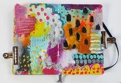 head in the clouds - moleskine art journal spread — Journal Girl