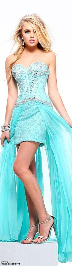 16 Ideas For Dress Blue Tiffany Sherri Hill Trendy Dresses, Blue Dresses, Casual Dresses, Prom Dresses, Maxi Outfits, Cool Outfits, Azul Tiffany, Tiffany Blue, Dress Brokat