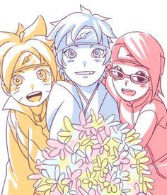 Boruto, Mitsuki and Sarada Anime Naruto, Naruto Run, Naruto Teams, Sasuke X Naruto, Manga Anime, Naruto Shippuden, Naruto Gaiden, Boruto And Sarada, Shikamaru