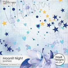 Moonlit Night - scatters By Dita B Designs