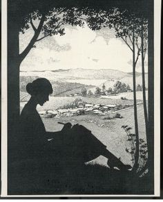 Advertisement for a Fountain Pen Featuring a Silhouette of a Woman Sitting Under a Tree Writing Giclee Print 9 in. Vintage Advertisements, Vintage Ads, Vintage Prints, Vintage Paper, George Eliot, Writing Posters, Memoir Writing, Waterman Fountain Pen, Pen Art