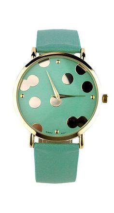 POPULAR Mint dot watch...