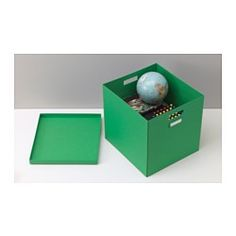 IN need of hanging files for my expedite!!! Why SO hard!?? TJENA Box with lid - green - IKEA