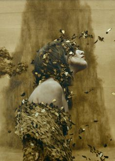 the paintings and artwork of brad kunkle. gold leaf artist and painter brad kunkle. Brad Kunkle, Anne With An E, Anne Shirley, Fantasy Illustration, Leaf Art, Fine Art, Surreal Art, Female Art, Fantasy Art