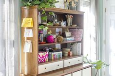 Turn a China Hutch Into an Office Command Center