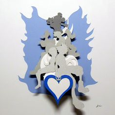 Jeff Ellison Art: Kingdom Hearts 3-D paper diorama