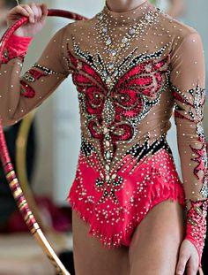 Rhythmic gymnastics leotard close-up More More