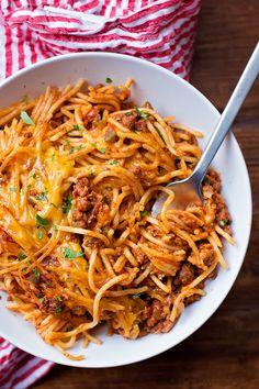 Stuffed Pepper Spaghetti Bake