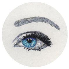 Hand stitched eye