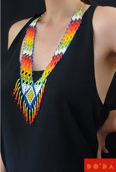 Hand-beaded Embera necklaces.  The finest Colombian craft for a sustainable planet.