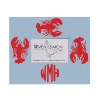 Monogrammed Picture Frame - Lobster