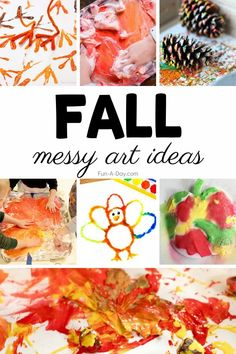 We love messy play, and messy process art is even better!! Check out these fun fall art ideas and read more about the benefits of including messy play in your classroom or home this autumn. Fall Preschool Activities, Early Learning Activities, Toddler Activities, Messy Art, Messy Play, Apple Theme, Pumpkin Art, Handprint Art, Play Ideas