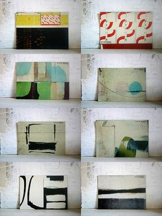 abstract art ; paintings / interior inspiration - living with art