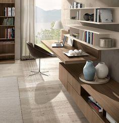 Mueble TV moderno / de olmo / de melamina - Z409 - ZALF
