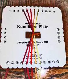 Kumihimo tutorials: Braiding Plate Instructions- Basic Flat Braid + links to a number of other kumihimo tutes