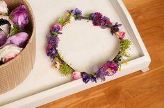 Corona de flores por Georgina41 en Etsy
