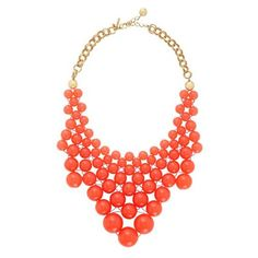 Kate Spade, dotz bib necklace, necklace, $148.00, orange
