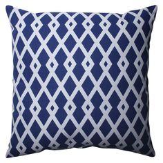 """Pillow Perfect Graphic Ultramarine Throw Pillow - Blue (16.5""""x16.5"""")"""