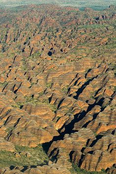 Aerial View of the Bungle Bungles in Purnululu National Park, Australia. The rocky mounds of the Bungle Bungles have unique black and orange stripes, caused by the black lichen and the orange silica. Tasmania, Western Australia, Australia Travel, Parc National, National Parks, Aerial View, Drones, Westerns, Places To See