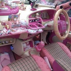 Cutest ever hello kitty car accessories # hellokitty Hello Kitty Car, Hello Kitty House, Hello Kitty Items, Pretty Cars, Cute Cars, Dream Cars, Hello Kitty Collection, Kawaii Room, Pink Aesthetic