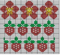 MariannAn's No 40 - Strawberry fields forever Fair Isle Knitting Patterns, Fair Isle Pattern, Knitting Charts, Knitting Stitches, Knitting Designs, Crochet Cross, Crochet Chart, Modern Cross Stitch Patterns, Cross Stitch Designs