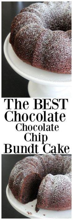 The Best Chocolate Chocolate Chip Bundt Cake