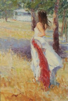 """Dan Beck's Painting - """"Windswept"""" ~ x Oil In the """"Dan Beck, Peter Fiore & Marc Hanson Show"""" October Haunted Images, Angel Sculpture, Southwest Art, Painting Process, Magazine Art, Impressionist, Art Images, The Dreamers, Street Art"""