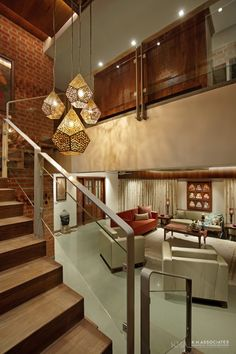 Penthouse Apartment which Amalgamates Contemporary With Tradition Railing Design, Staircase Design, Small Bathroom Renovations, Bathroom Designs, Bathroom Remodeling, Chettinad House, Indian Home Design, Colourful Living Room, Home Interior Design
