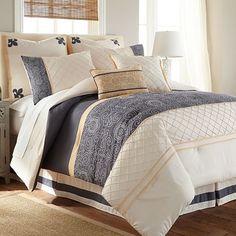Lyra 8-Piece Gray Queen Comforter Set