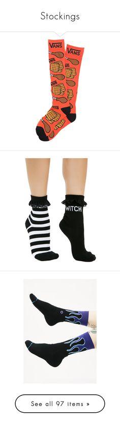 """Stockings"" by creepykid13 ❤ liked on Polyvore featuring men's fashion, men's clothing, men's socks, mens socks, mens acrylic socks, intimates, hosiery, socks, black and killstar"