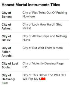 shadowhunters series summary
