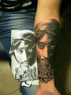 In love with this tattoo, my nigga Tupac