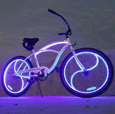Glow Candy Satellite Beach Cruiser #Beach, #Bicycle, #GlowInDark