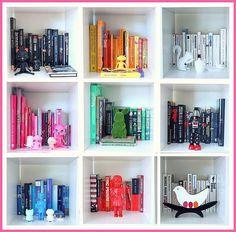 Böcker sorterade efter färg | Förvaringsdrottningen