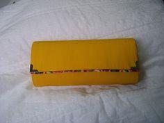Blog de ivonetebolsas :BOLSAS ARTESANAIS EM CARTONAGEM, Bolsa carteira amarela com detalhes floral