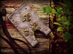 bussiness card holder....polymer clay.. http://www.cuteart.sk/d/vizitkar-oaza-1001926/