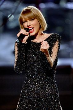 Taylor Swift performs on the 58th Annual GRAMMY Awards on Feb. 15 in Los Angeles