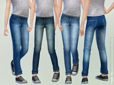 The Sims 4 Casual Jeans for Children 03 Sims 4 Toddler Clothes, Sims 4 Cc Kids Clothing, Kids Clothes Boys, Kids Pants, Toddler Boy Outfits, Kids Outfits, Sims 4 Tsr, Sims Cc, Lässigen Jeans