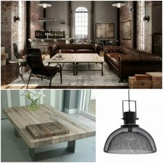 Η #industrial #διακόσμηση αποτελεί από τις πιο σύγχρονες τάσεις και συνεχώς κερδίζει θαυμαστές.  Τα βασικά της στοιχεία για να κάνετε τον χώρο σας να μοιάζει με μικρό εργοστάσιο είναι το μέταλλο, το ξύλο το, τα φυσικά υλικά όπως η πέτρα και οι ψυχρές αποχρώσεις του καφέ και του γκρι. Decor, Loft Decor, Table, Loft, Furniture, Home Decor, Dining, Dining Table