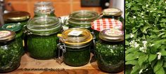 Leurda (usturoi salbatic) conservata in ulei sau otet. Jar, Decor, Canning, Decoration, Decorating, Jars, Glass, Deco