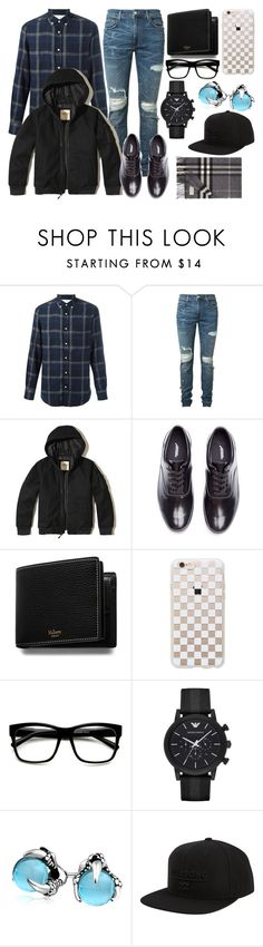 """""""Untitled #4"""" by emily-augusta-christine-emily ❤ liked on Polyvore featuring Officine Generale, AMIRI, Hollister Co., Undercover, Mulberry, Rifle Paper Co, ZeroUV, Emporio Armani, Bling Jewelry and Billabong"""