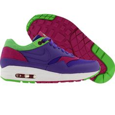 Nike Womens Air Max 1 (pure purple / pure purple / mean green / rave pink) 319986-551 - $89.99