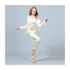 19 Momme Silk Pajamas Set Pullover Shirt & Long Pants - ChicHouz