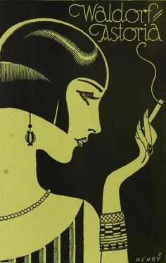 "mote-historie: "" backtothefiveanddime: "" 1925 "" Waldorf Astoria - 1925 - by Henry """