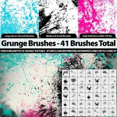 Lots of grunge brushes